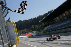 Checkered flag for Callum Ilott, Prema Powerteam, Dallara F317 - Mercedes-Benz