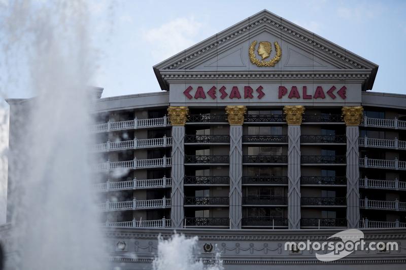 Fuentes delante de Caesars Palace Las Vegas