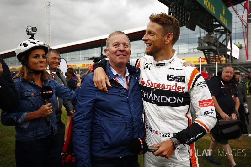 Jenson Button, McLaren y Sky Martin Brundle