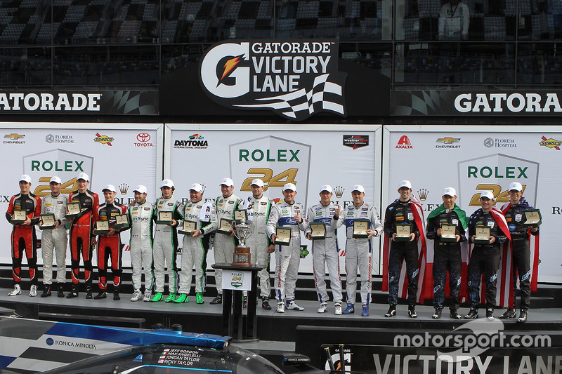 Podium: ganadores, Ricky Taylor, Jordan Taylor, Max Angelelli, Jeff Gordon, Wayne Taylor Racing, GTLM first place Joey Hand, Dirk Müller, Sébastien Bourdais, Ford Performance Chip Ganassi Racing, PC first place James French, Kyle Mason, Patricio O'Ward, Nicholas Boulle, Performance Tech Motorsports, GTD, Daniel Morad, Jesse Lazare, Carlos de Quesada, Michael de Quesada, Michael Christensen, Alegra Motorsports