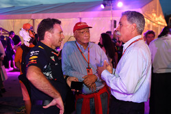 Christian Horner, Red Bull Racing Team Principal, Niki Lauda, Mercedes AMG F1 Non-Executive Chairman