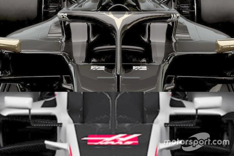 Haas VF-19 - Haas VF - 18 sidepod girişleri
