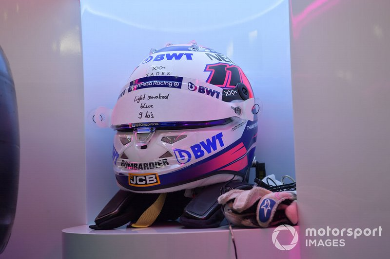 Casco de Sergio Perez, Racing Point