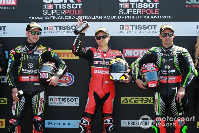 Джонатан Рей, Kawasaki Racing, Альваро Баутіста, Aruba.it Racing-Ducati Team, Леон Хеслем, Kawasaki Racing