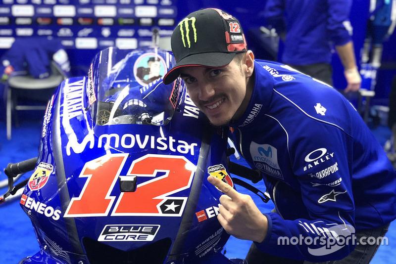 Maverick Viñales, Yamaha Factory Racing, avec son nouveau numéro