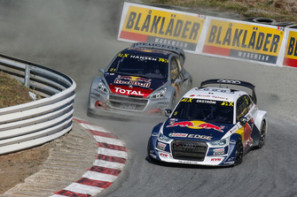 Mattias Ekström, EKS Audi Sport, Timmy Hansen, Team Peugeot Total