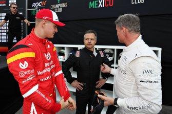 Mick Schumacher, Andy Priaulx et David Coulthard