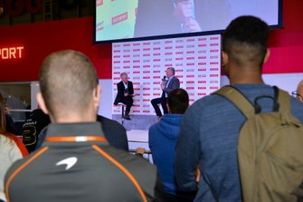 Johnny Herbert talks to Alan Hyde on the Autosport Stage