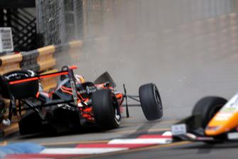 Crash of Sophia Flörsch, Van Amersfoort Racing