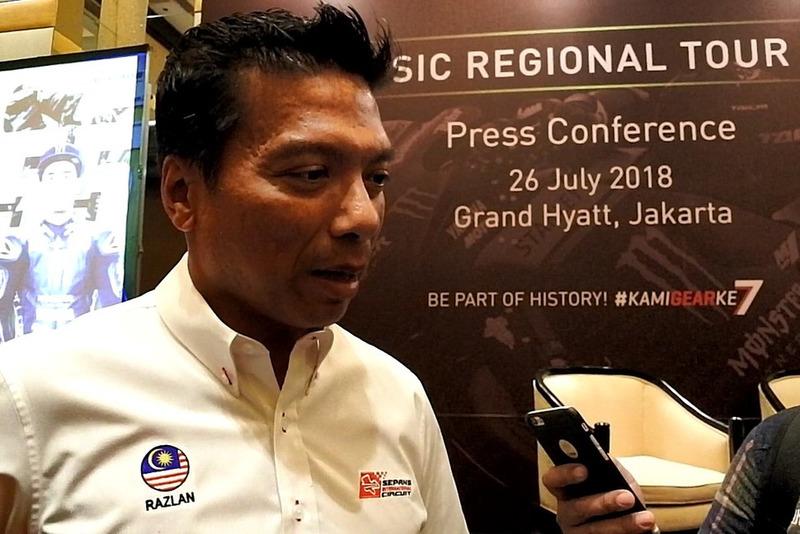 Dato' Razlan Razali, CEO Sepang International Circuit berbicara dengan media setelah konferensi pers