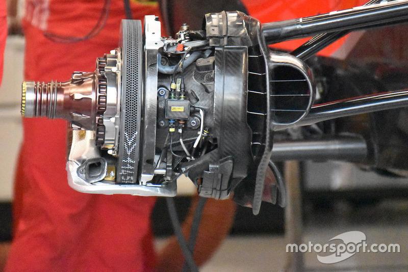Ferrari brake assembly technical detail