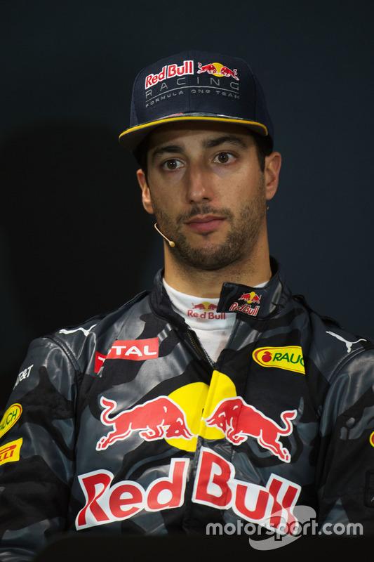 Daniel Ricciardo, Red Bull Racing, en conférence de presse