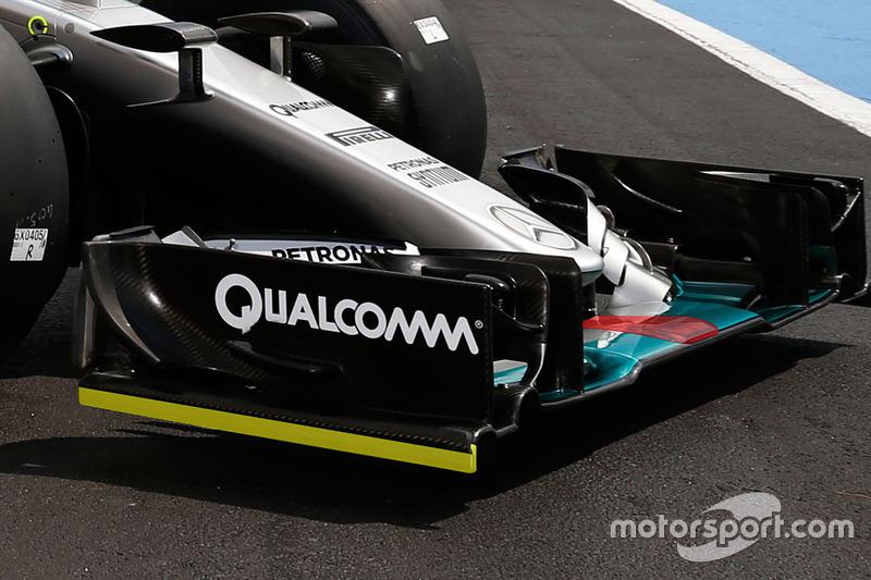 Mercedes AMG F1 W06 Hybrid, dettaglio del muso