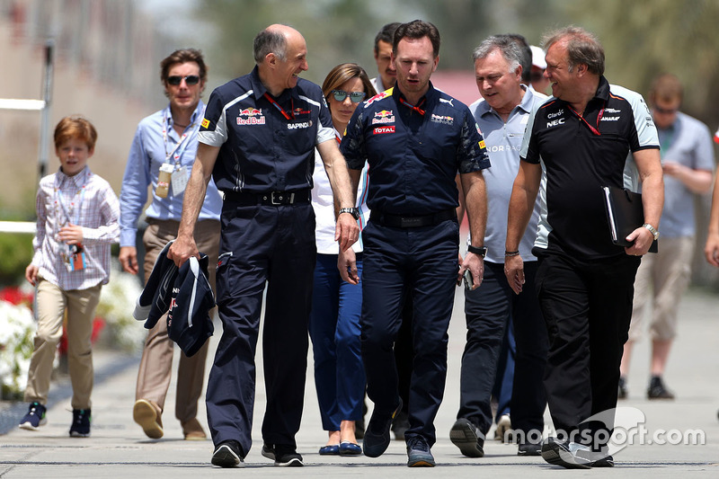 Franz Tost, Scuderia Toro Rosso Team Principal, Christian Horner, Red Bull Racing Team Principal and