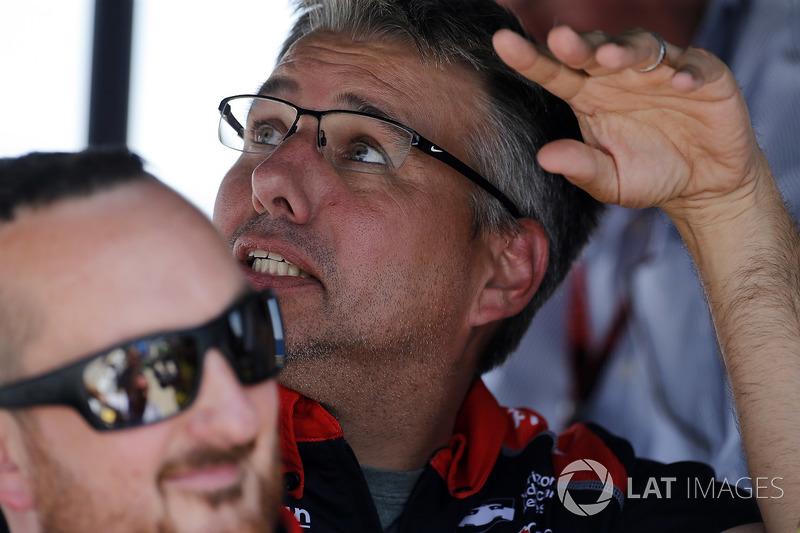 Sébastien Bourdais, Dale Coyne Racing with Vasser-Sullivan Honda crew chief Craig Hampson
