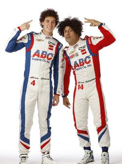 Matheus Leist, A.J Foyt Racing; Tony Kanaan, A.J Foyt Racing