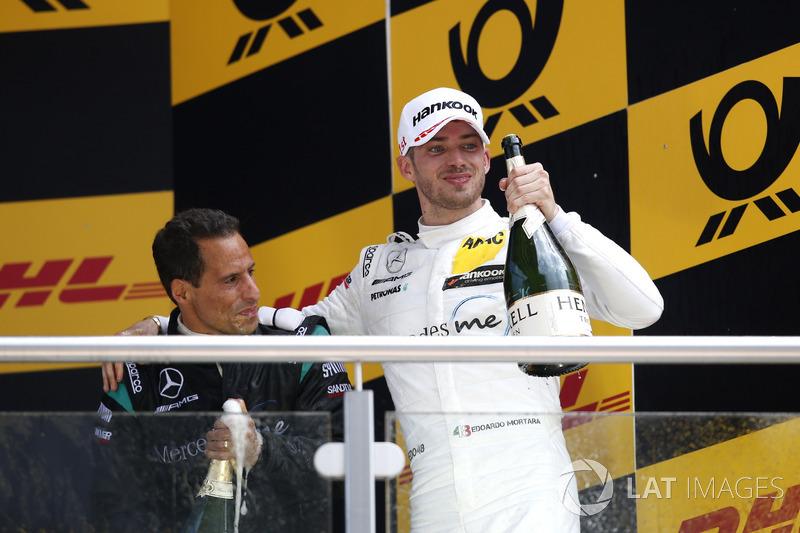 Podio: il vincitore della gara Edoardo Mortara, Mercedes-AMG Team HWA