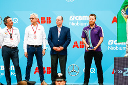 Alejandro Agag, CEO, Formula E, Ulrich Spiesshofer, Cheif Executive Officer, ABB, the DS Virgin Team
