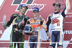 Podium: 1. Dani Pedrosa, Repsol Honda Team; 2. Johann Zarco, Monster Yamaha Tech 3; 3. und Weltmeist