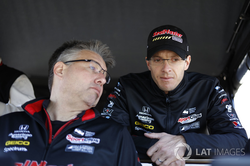 Sébastien Bourdais, Dale Coyne Racing with Vasser-Sullivan Honda, et son ingénieur Craig Hampson