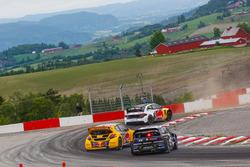 Petter Solberg, PSRX Volkswagen Sweden, Kevin Hansen, Team Peugeot Total, Andreas Bakkerud, EKS Audi Sport
