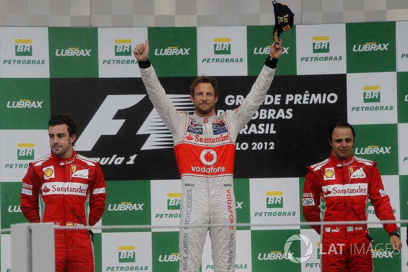Ganador del GP de Brasil 2012: Jenson Button, McLaren Mercedes