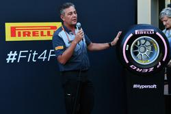 Гоночный менеджер Pirelli Motorsport Марио Изола, презентация шин 2018 года