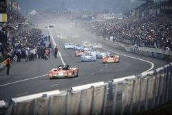 24h Le Mans 1973: Arturo Merzario, Carlos Pace, Ferrari 312PB, Jacky Ickx, Brian Redman, Ferrari 312PB, Jean-Pierre Beltoise, Francois Cevert, Matra-Simca MS670B, Henri Pescarolo, Gerard Larrousse, Matra-Simca MS670B, Jean-Pierre Jabouille, Jean-Pierre Jaussaud, Matra-Simca MS670B