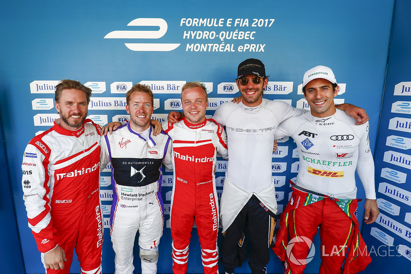 Nick Heidfeld, Mahindra Racing, Sam Bird, DS Virgin Racing, Felix Rosenqvist, Mahindra Racing, Jean-
