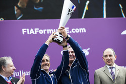 Alain Prost and Jean Paul Driot on the podium