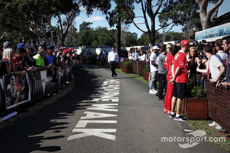 Sebastian Vettel, Ferrari con la prensa