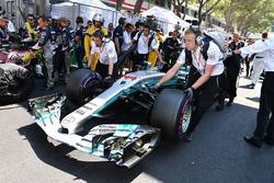 El coche de Lewis Hamilton, Mercedes-Benz F1 W08 Hybrid