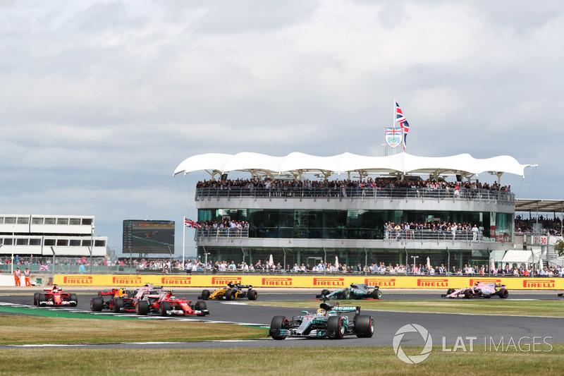 Arrancada, Lewis Hamilton, Mercedes F1 W08 líder