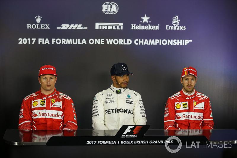 Льюіс Хемілтон, Mercedes AMG F1, Кімі Райкконен, Себастьян Феттель, Ferrari