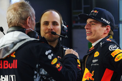 Max Verstappen, Red Bull Racing, mit Helmut Marko