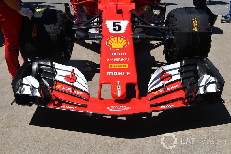 Ferrari SF70H: Frontpartie mit Frontflügel