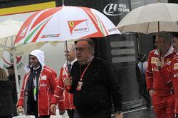 Sergio Marchionne, CEO FIAT and Maurizio Arrivabene, Ferrari Team Principal