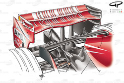 Ferrari F2007 (658) 2007 rear wing