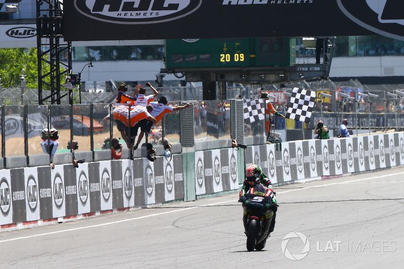 Johann Zarco, Monster Yamaha Tech 3, se lleva el segundo lugar