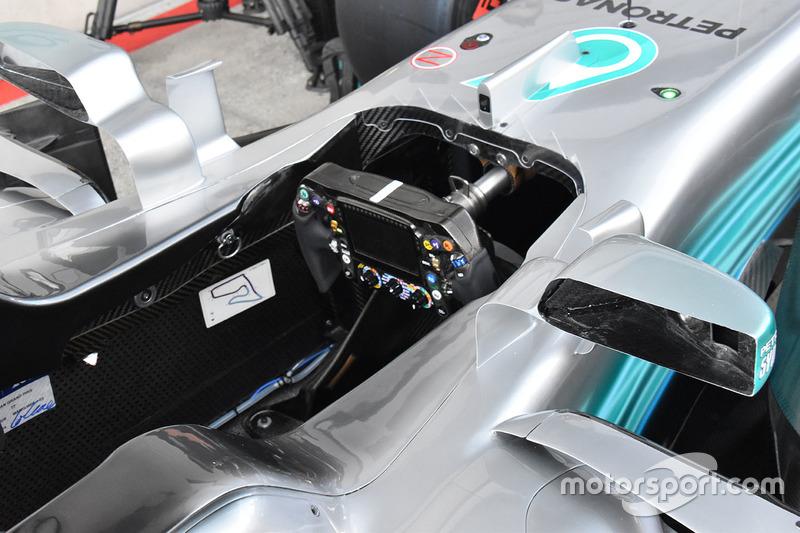 Cockpit de la Mercedes W08