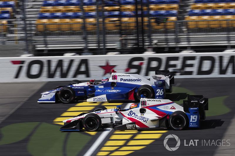 Ed Jones, Dale Coyne Racing Honda Takuma Sato, Andretti Autosport Honda