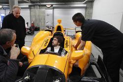 Fernando Alonso, Andretti Autosport Honda sits in the car