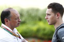 Frederic Vasseur, ART Team Principal, with Stoffel Vandoorne, McLaren