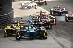 Sébastien Buemi, Renault e.Dams leads Lucas Di Grassi, ABT Schaeffler Audi Sport