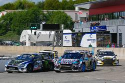Petter Solberg, PSRX Volkswagen Sweden, VW Polo GTi; Andreas Bakkerud, Hoonigan Racing Division, Ford