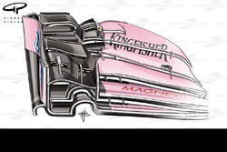 Force India VJM10 front wing, Canadian GP