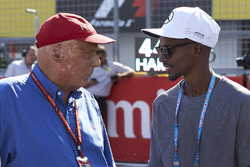 Niki Lauda, Fahri Başkan, Mercedes AMG F1, ve Sir Mo Farah