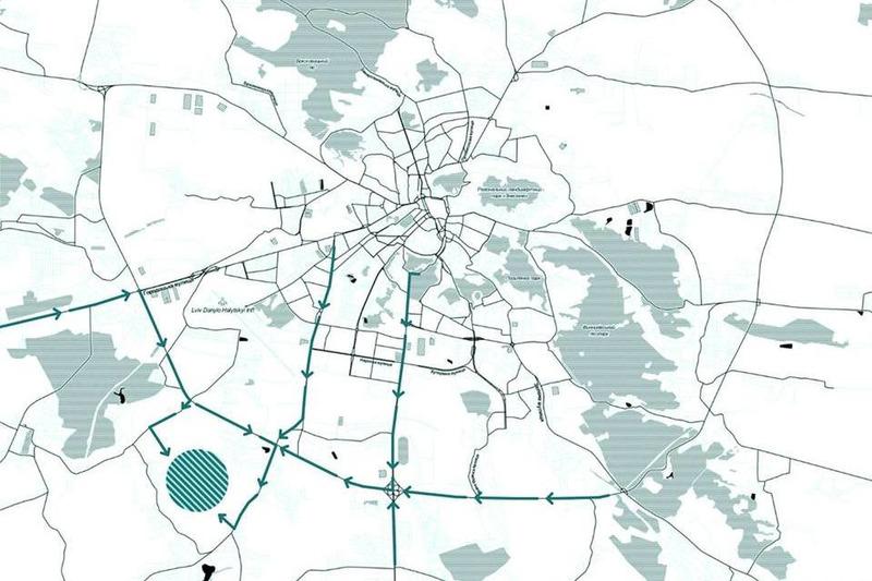 Розташування треку у Львові