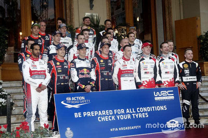 Foto de grupo de pilotos WRC 2017
