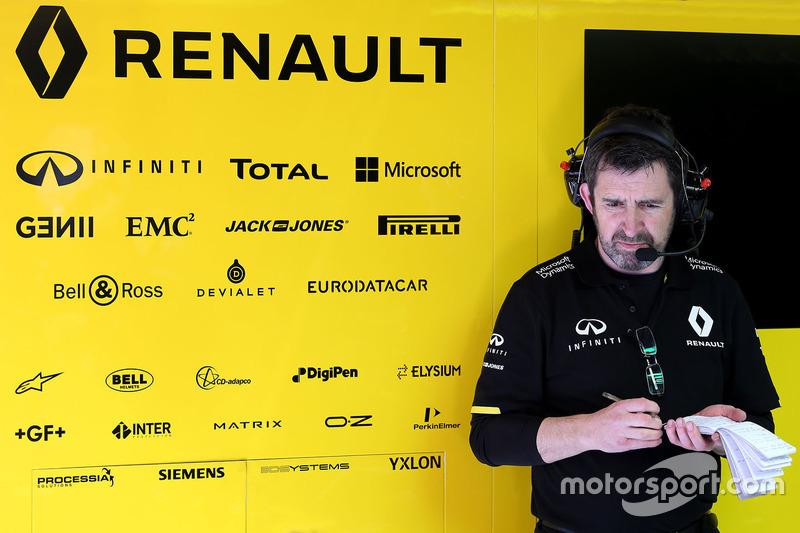 Renault Sport F1 Team mechanic at work